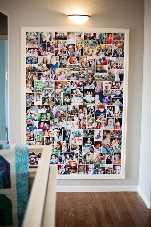 Foto Collage Ideen Für Bilderwand  Deko  Fotowand Fotowand Selber von Fototapete Collage Selbst Gestalten Bild