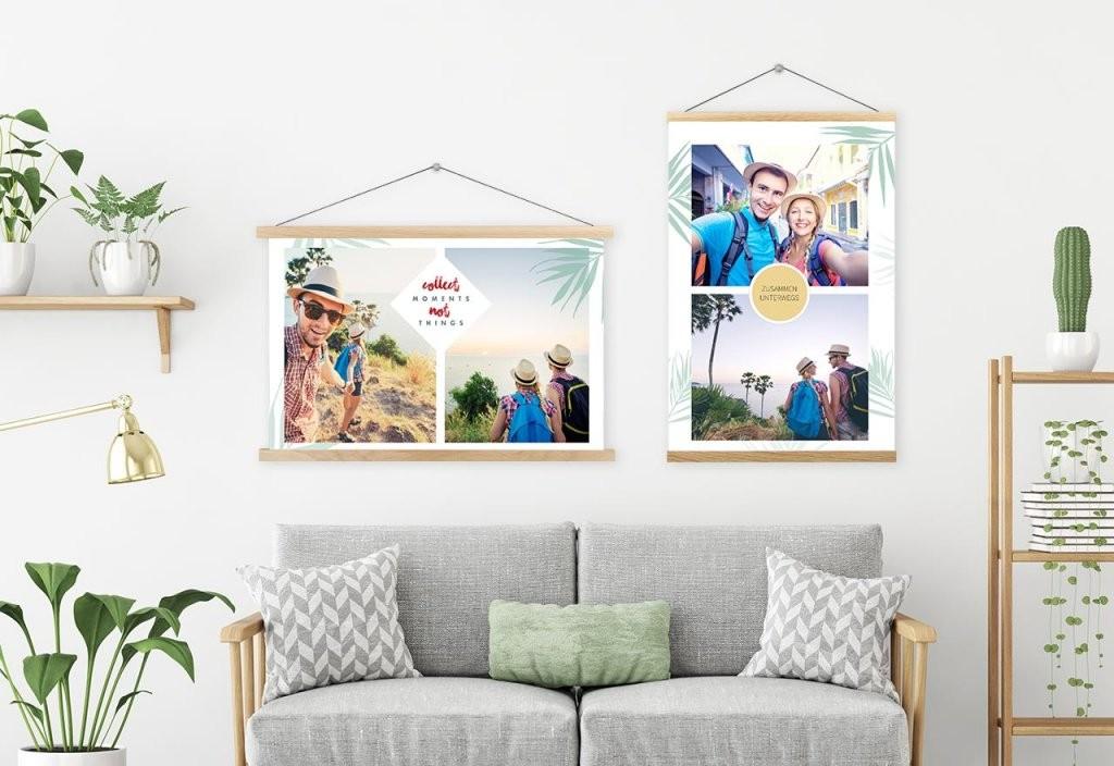 Foto Collagen Hier Selbst Gestalten  Rossmann Fotowelt von Leinwand Collage Selbst Gestalten Bild