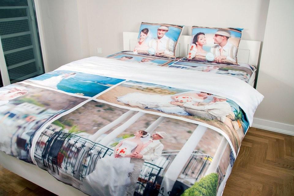 Fotobettwäsche  Bettwäsche Bedrucken von Bettwäsche Selbst Gestalten Günstig Photo