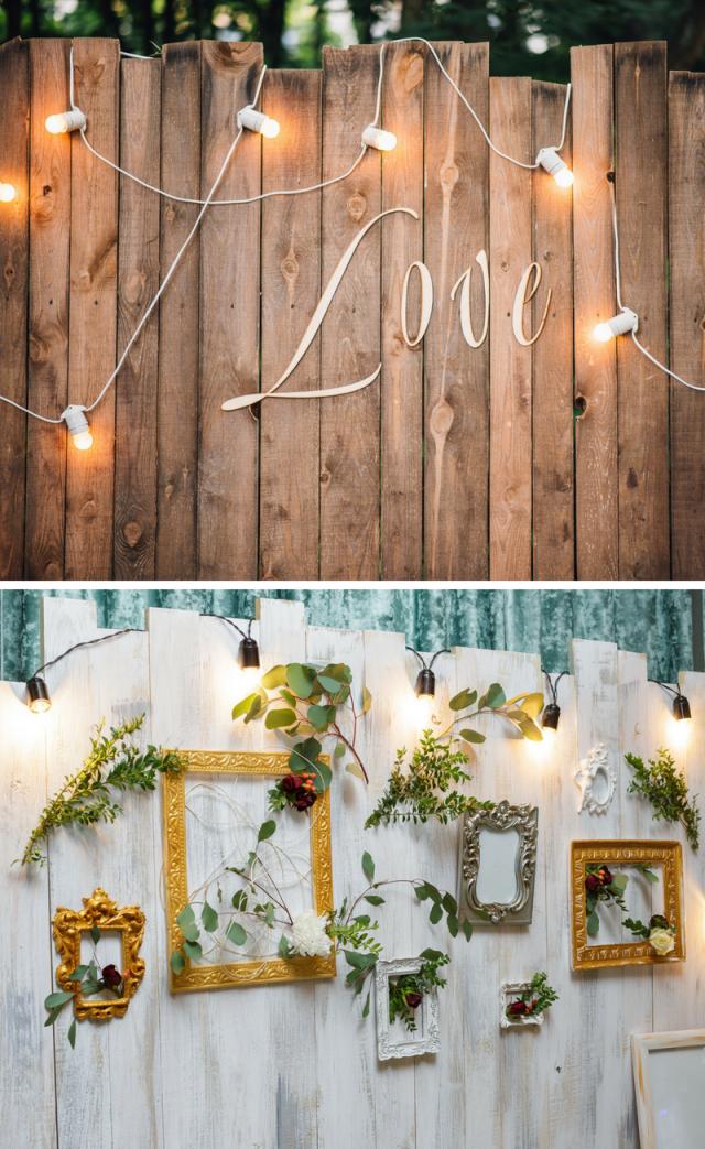 Fotobox Für Die Hochzeit 40 Coole Fotowandideen  Hochzeitskiste von Fotowand Hochzeit Selber Machen Bild
