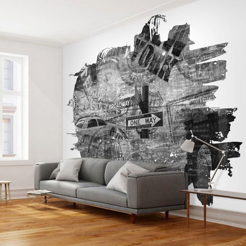 Fototapete  Blackandwhite New York Collage von Fototapete Collage Selbst Gestalten Bild