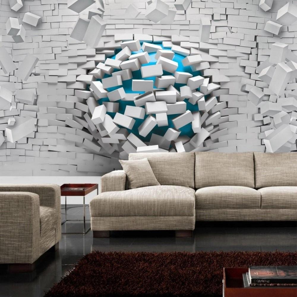 Fototapete No 2523  Vliestapete Steinwand Tapete Stein Steinwand von Tapeten In Steinoptik 3D Bild