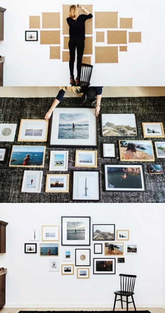 Fotowand Selber Machen Ideen Für Eine Kreative Wandgestaltung von Fotowand Selber Machen Stoff Photo
