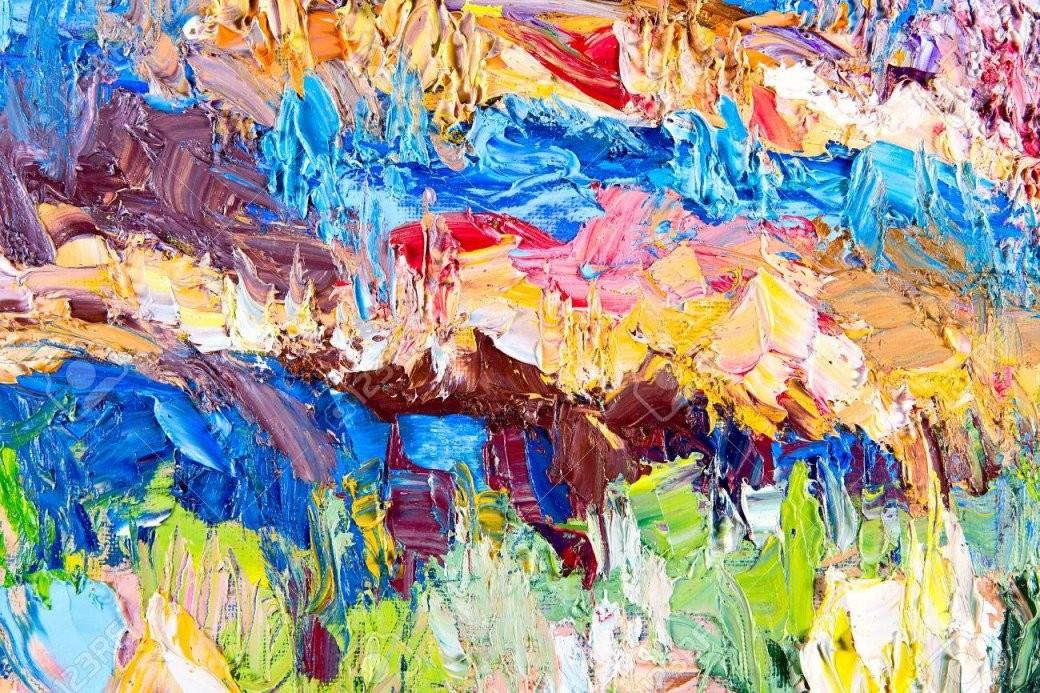 Fragment Von Meiner Malerei Öl Auf Leinwand Abstrakt Gemalten von Bilder Auf Leinwand Abstrakt Bild