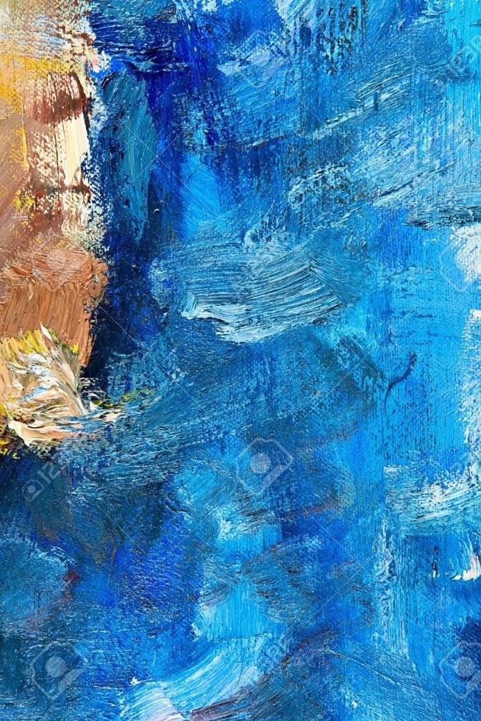 Fragment Von Meiner Malerei Öl Auf Leinwand Abstrakt Gemalten von Bilder Auf Leinwand Abstrakt Photo