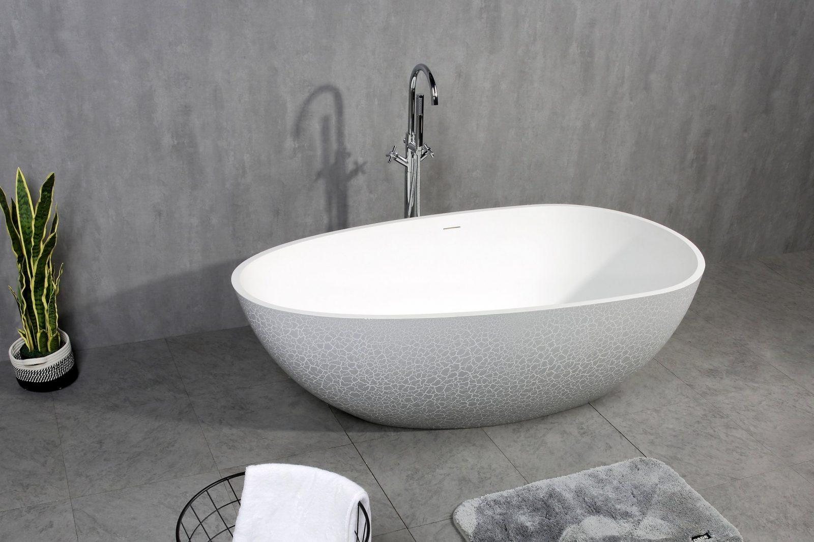 Freistehende Badewanne Aus Mineralguss Oceania  170X85Cm von Freistehende Badewanne Mineralguss Oder Acryl Bild
