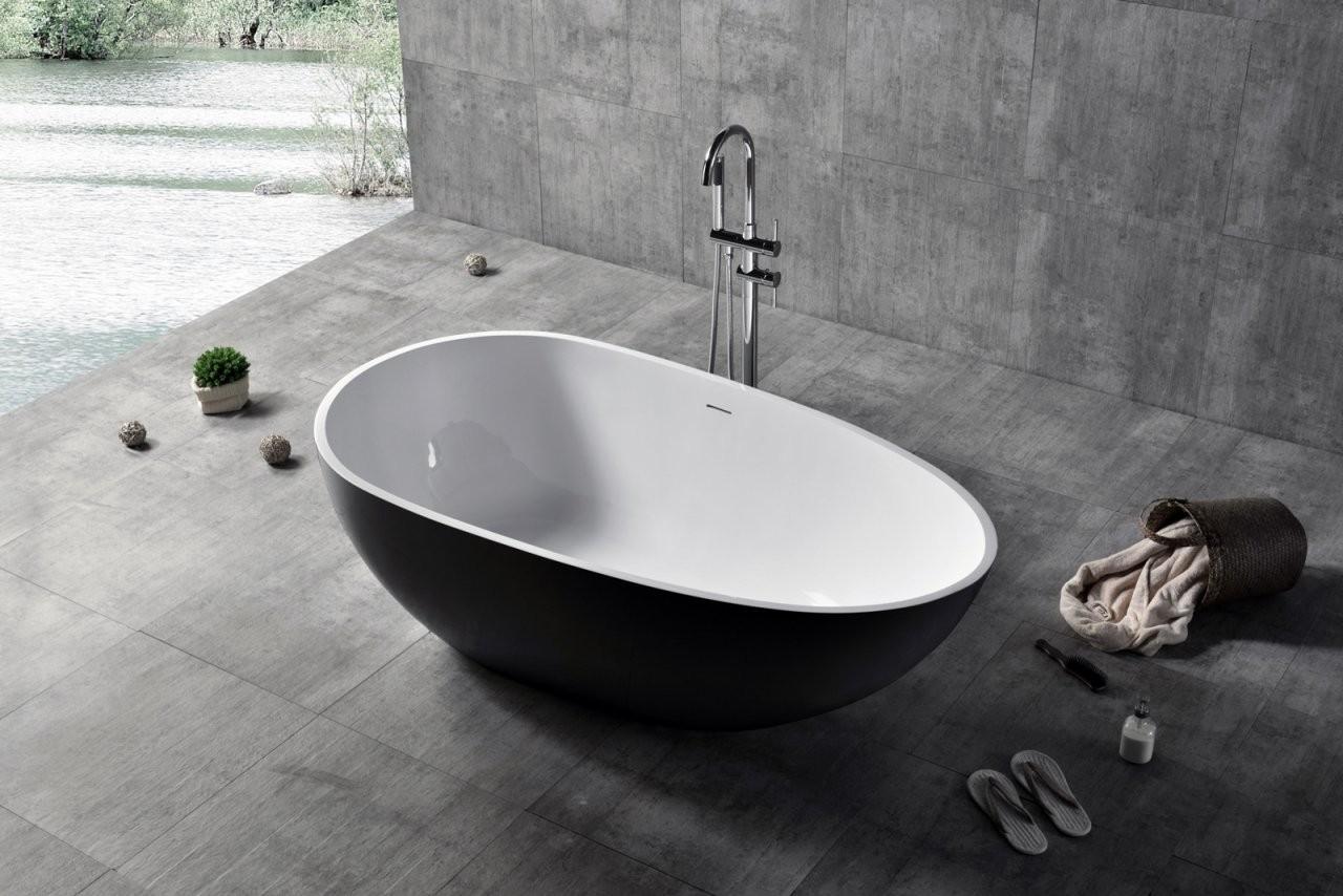 Freistehende Badewanne Vela Mineralguss Solid Stone  Farbe Und von Freistehende Badewanne Mineralguss Oder Acryl Photo