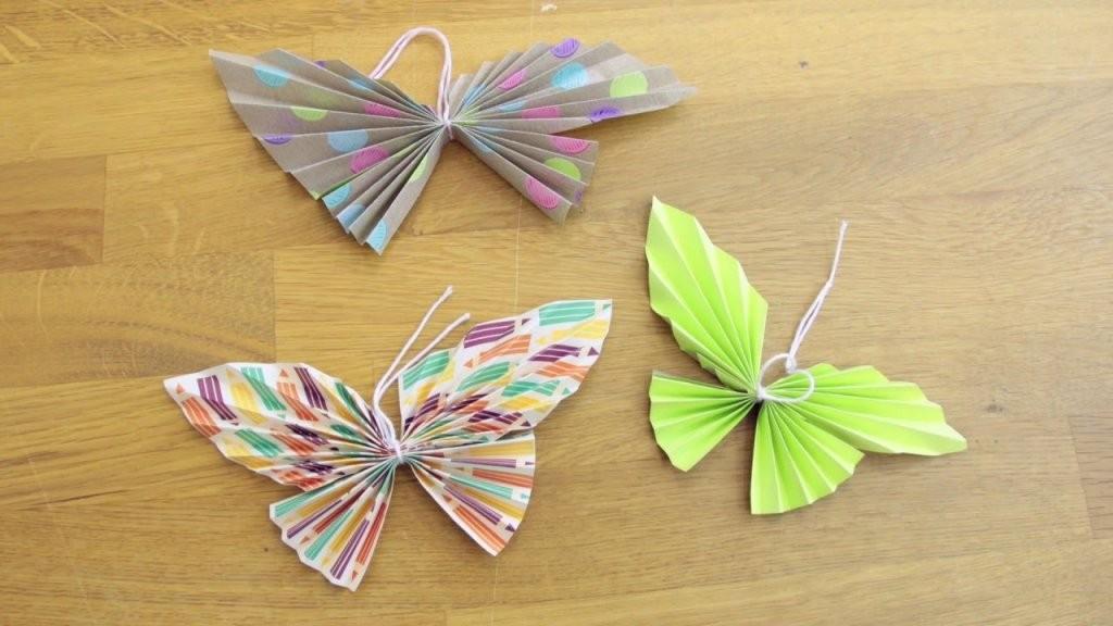 Frühlingsdeko Selber Machen  Schmetterlinge Diy  Schöneinpacken von Schmetterlinge Wanddeko Selber Machen Photo