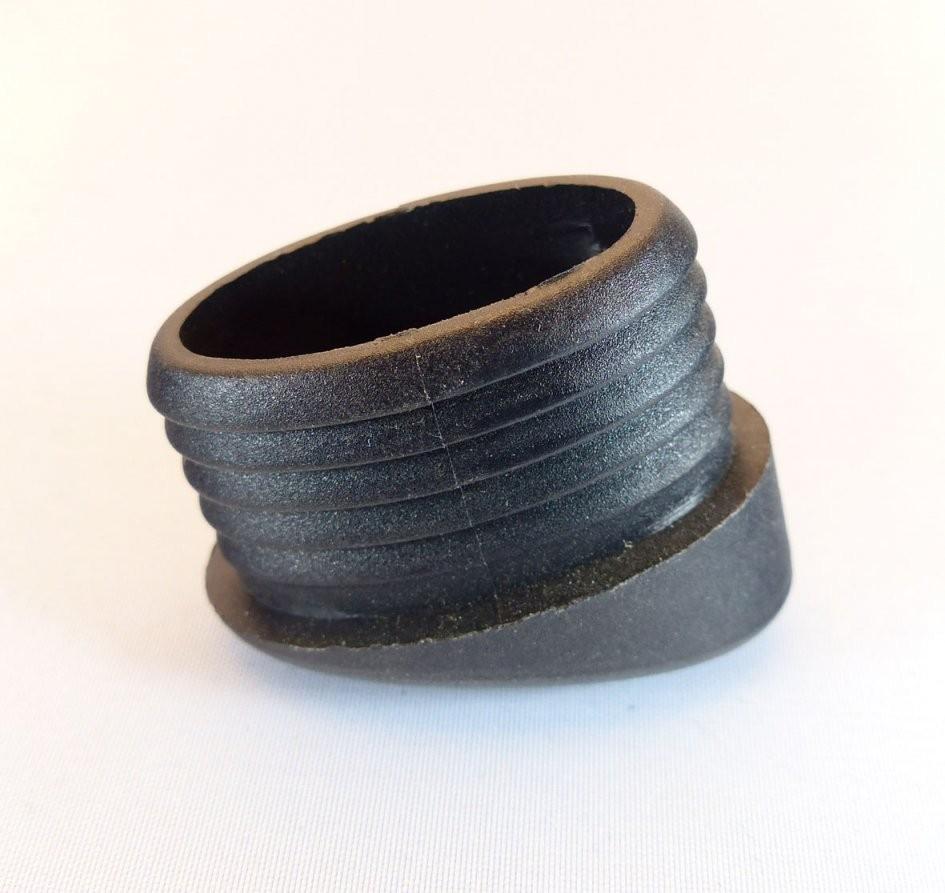 Fusskappe 38X25Mm Schräg Schwarz (Ersatzteile Und Pflegemittel von Fußkappen Für Gartenstühle Oval Bild