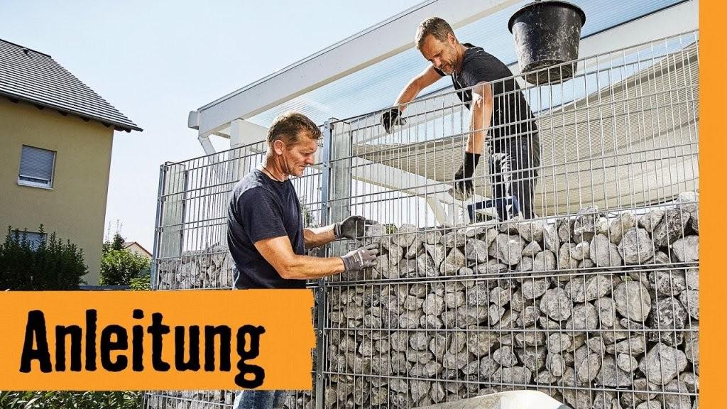 Gabione Selber Bauen  Hornbach Meisterschmiede  Youtube von Sichtschutz Aus Stein Selber Bauen Bild