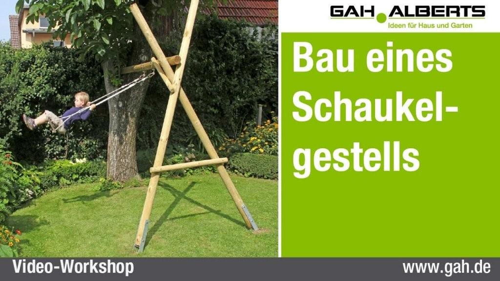 Gahalberts Ein Schaukelgestell Aus Holz Bauen von Gartenschaukel Selber Bauen Anleitung Bild