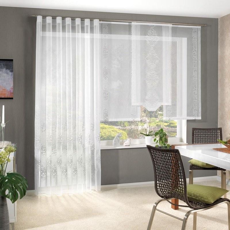Gardine Bestickter Halborganza 300 Cm Hoch Flächenvorhang von Vorhänge 300 Cm Lang Bild