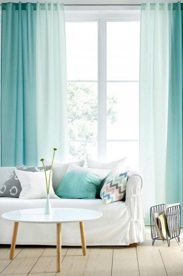 Gardinen In Mintgrün Mit Ombre Effekt …  Vintage Home  Gardi… von Ideen Für Wohnzimmer Gardinen Bild