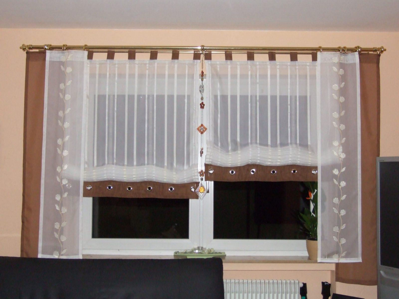 Gardinen Modern Wohnzimmer Braun von Gardinen Modern Wohnzimmer Braun Bild