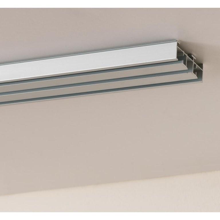 Gardinenschiene Inklusive Verbindungsstück Individuell Erweiterbar von Gardinenschiene 3 Läufig Mit Blende Photo