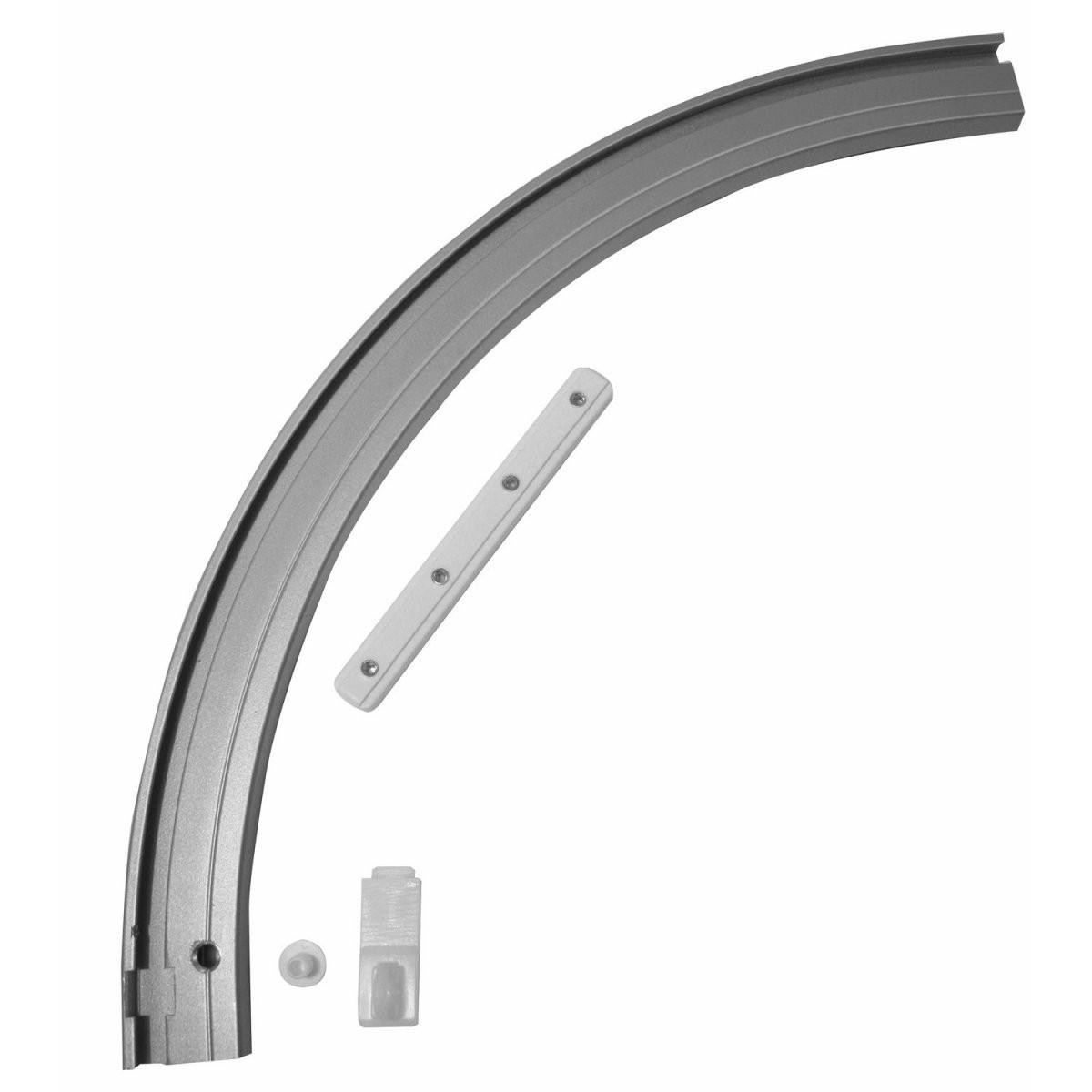 Gardinia Rundbogen Links Für Vorhangschiene 1Läufig Aluminium von Alu Gardinenschiene 1 Läufig Bild
