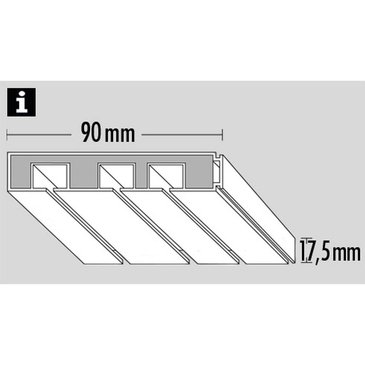 Gardinia Vorhangschiene 3Läufig Ge3 Weiß 120 Cm Kaufen Bei Obi von Gardinenschiene 3 Läufig Mit Blende Photo