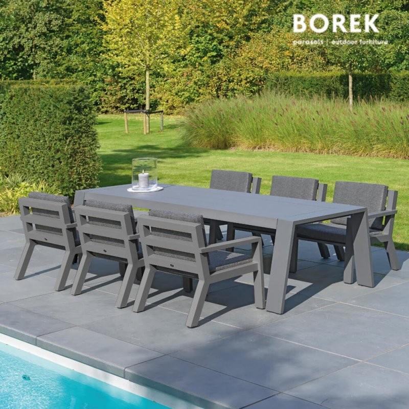 Garten Esstisch Garnitur Viking Von Borek  Gartentraum von Gartentisch Mit 6 Stühlen Bild