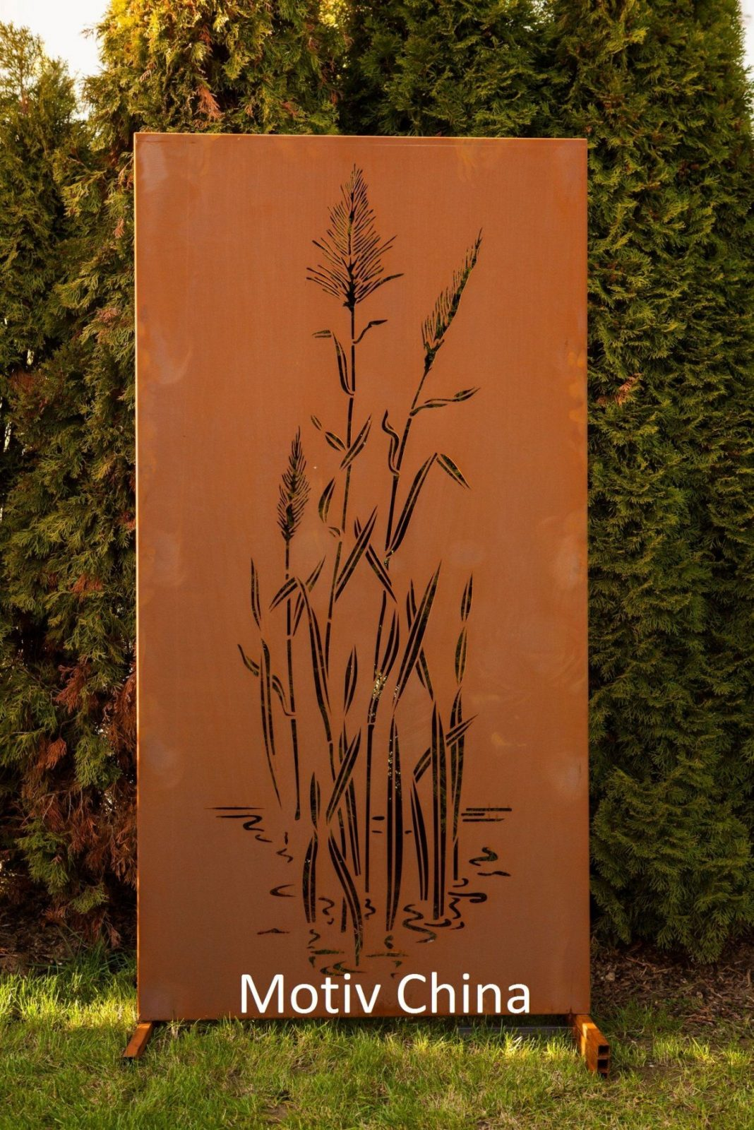 Garten Im Quadrat  3Erset Moderne Sichtschutzwand Aus Metall von Sichtschutz Garten Metall Rost Photo