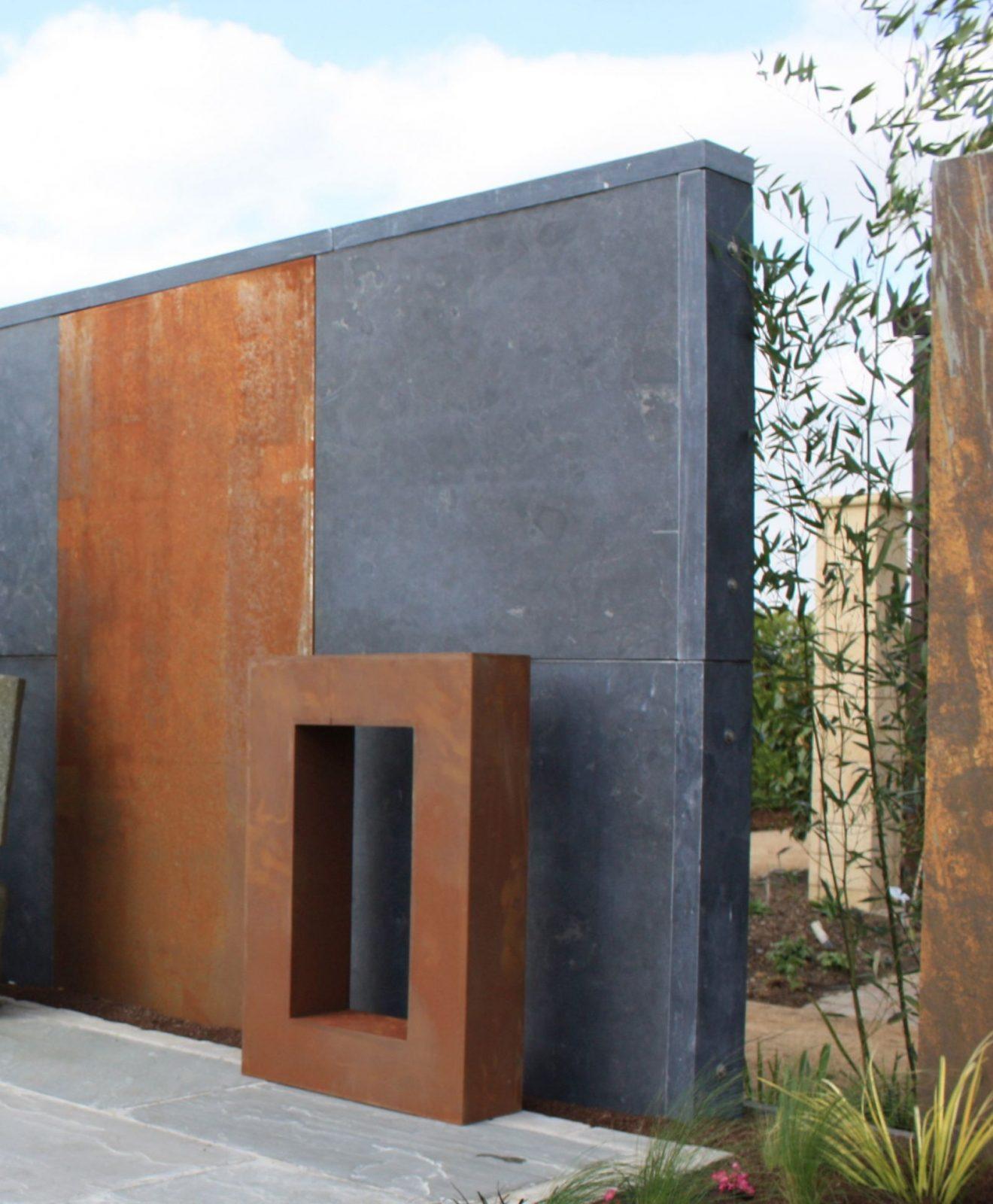 Garten Im Quadrat  Moderner Sichtschutz Und Spaliere von Moderner Sichtschutz Im Garten Photo