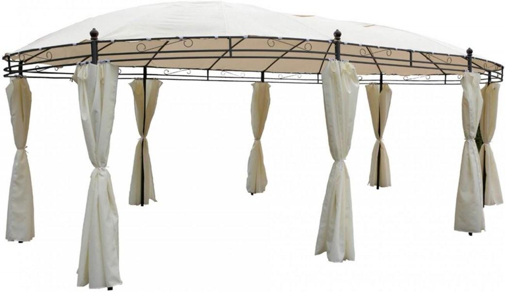 Garten Pavillon Oval 5 3 X 3 5M Beige Inkl Seitenteile  Linder von Seitenteile Pavillon 3X3 Beige Photo