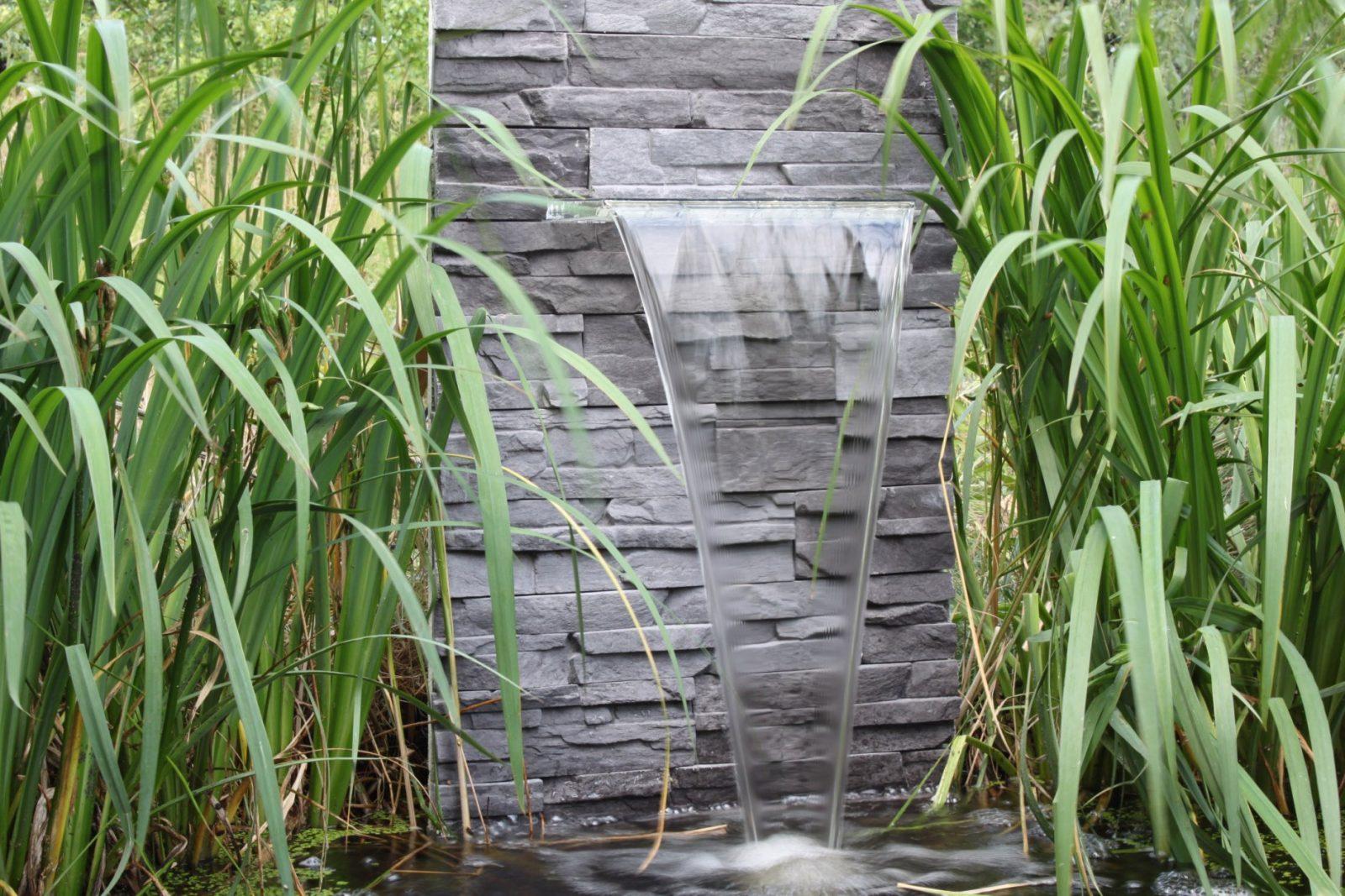 Garten Wasserfall Selber Bauen von Mauer Wasserfall Selber Bauen Bild