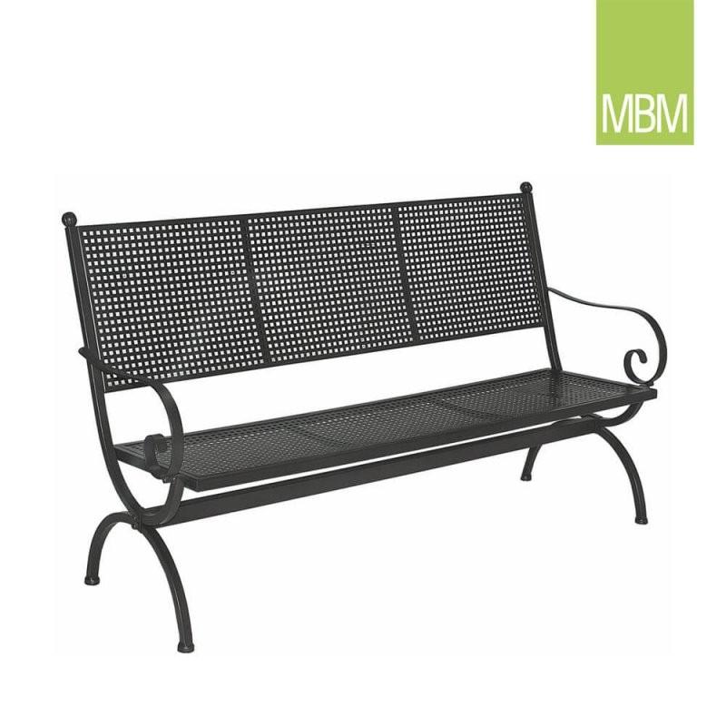 Gartenbank 3 Sitzer Mit Lehne Romeo Mbm  Gartentraum von Gartenbank 3 Sitzer Metall Bild