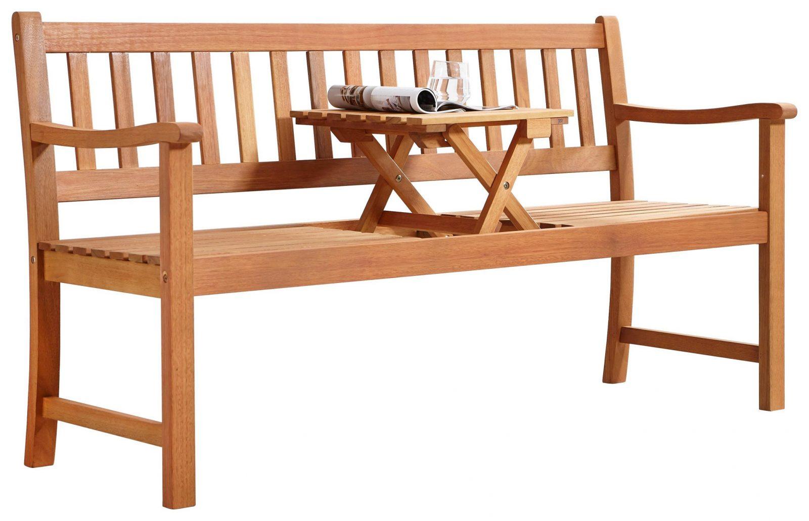 Gartenbank Aus Eukalyptus Massiv Mit Tisch Kaufen von Holzbank Mit Integriertem Tisch Bild