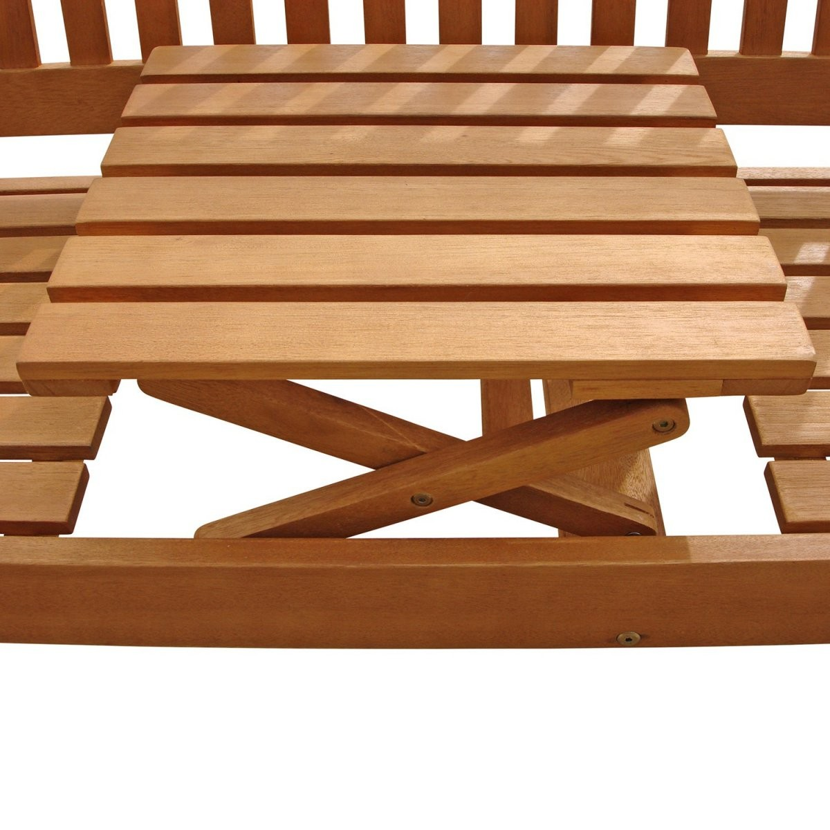Gartenbank Mit Integriertem Klapptisch Aus Holz Ideal Für Design von Gartenbank Mit Integriertem Tisch Bild