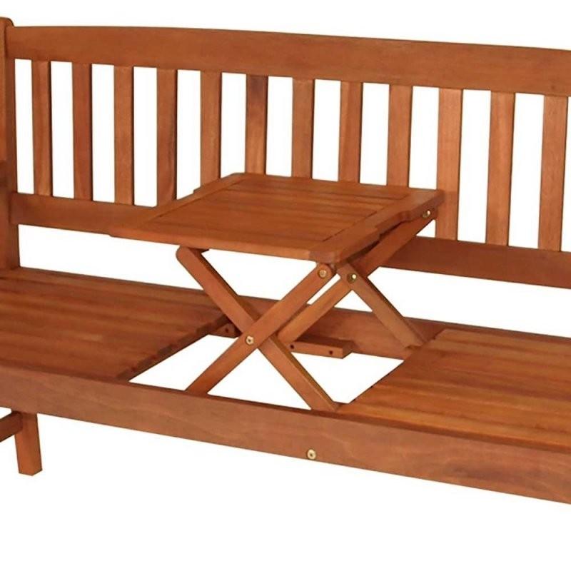 Gartenbank Prattlo Mit Integriertem Tisch  Wohnen von Holzbank Mit Integriertem Tisch Photo