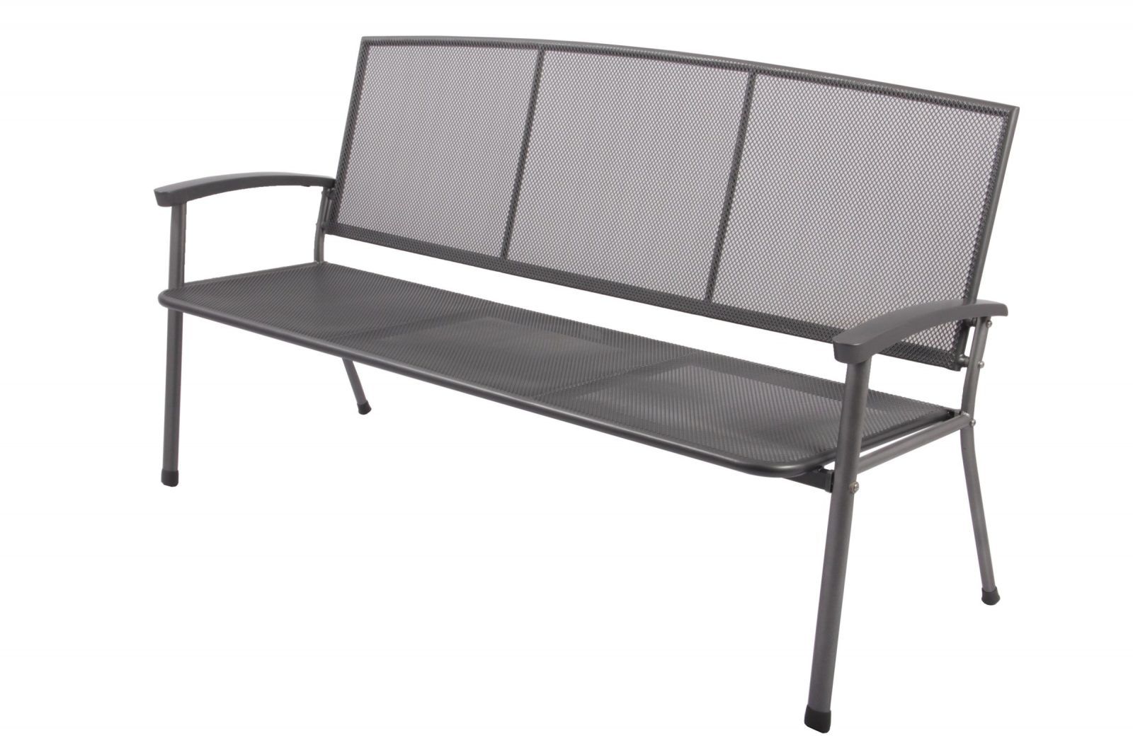 Gartenbank Rivo Parkbank 3 Sitzer Aus Streckmetall Garten Terrasse von Gartenbank 3 Sitzer Metall Photo