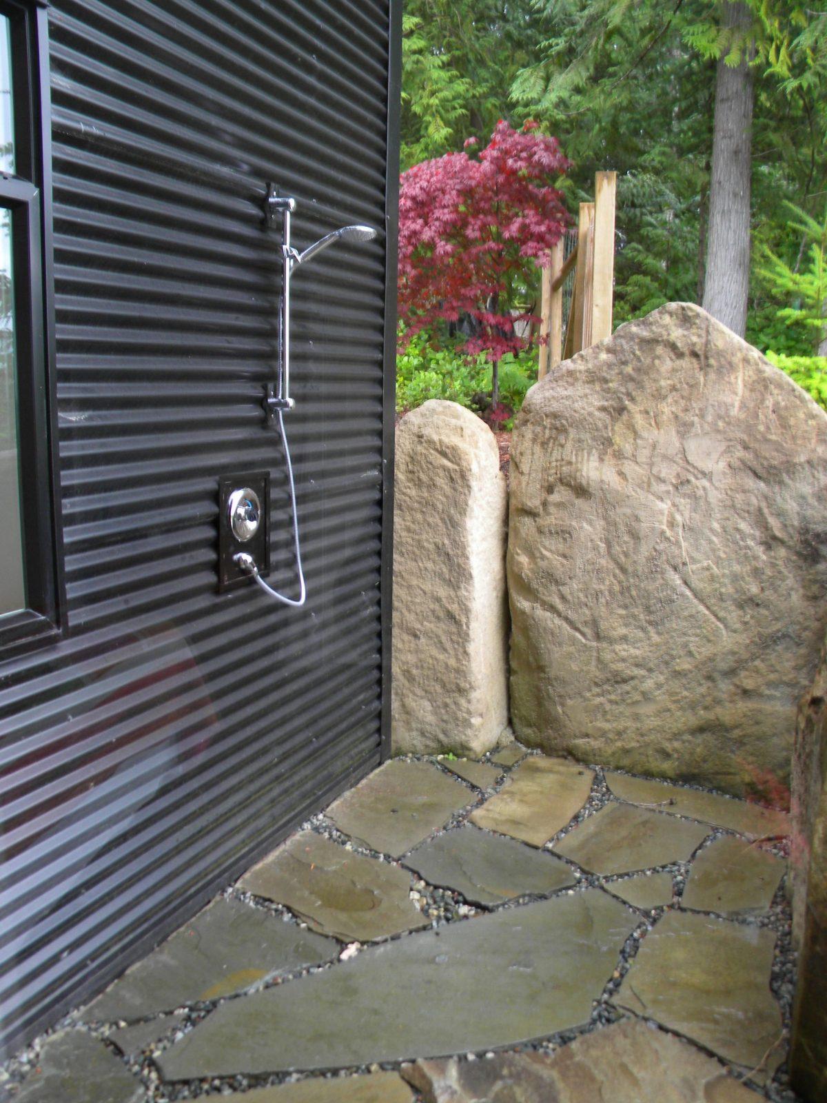 Gartendusche Sichtschutz  Ideen Für Die Outdoordusche Gesucht von Sichtschutz Für Duschen Im Freien Bild