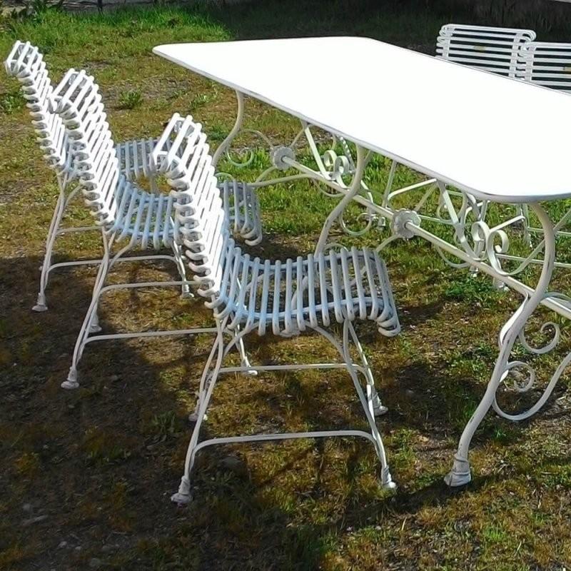 Gartengarnitur Aus Schmiedeeisen  Gartentraum von Gartentisch Mit 6 Stühlen Photo