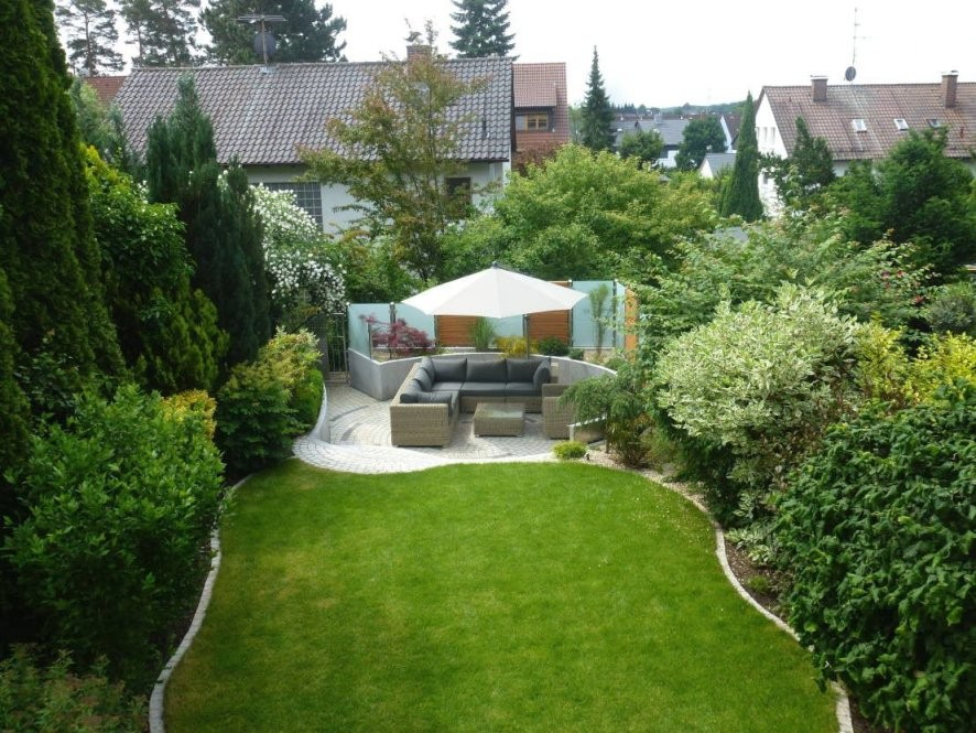 Gartengestaltung Kleiner Garten Sichtschutz Garten Pinterest Avec von Gartengestaltung Kleiner Garten Reihenhaus Photo