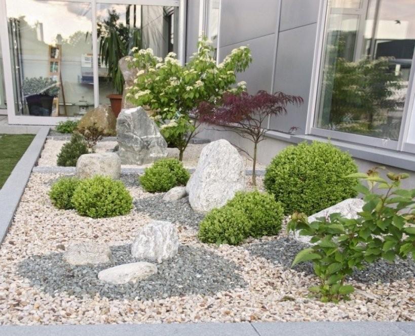 Gartengestaltung Mit Kies Bilder Garten Steine Kies Garten Design von Garten Mit Kies Bilder Photo