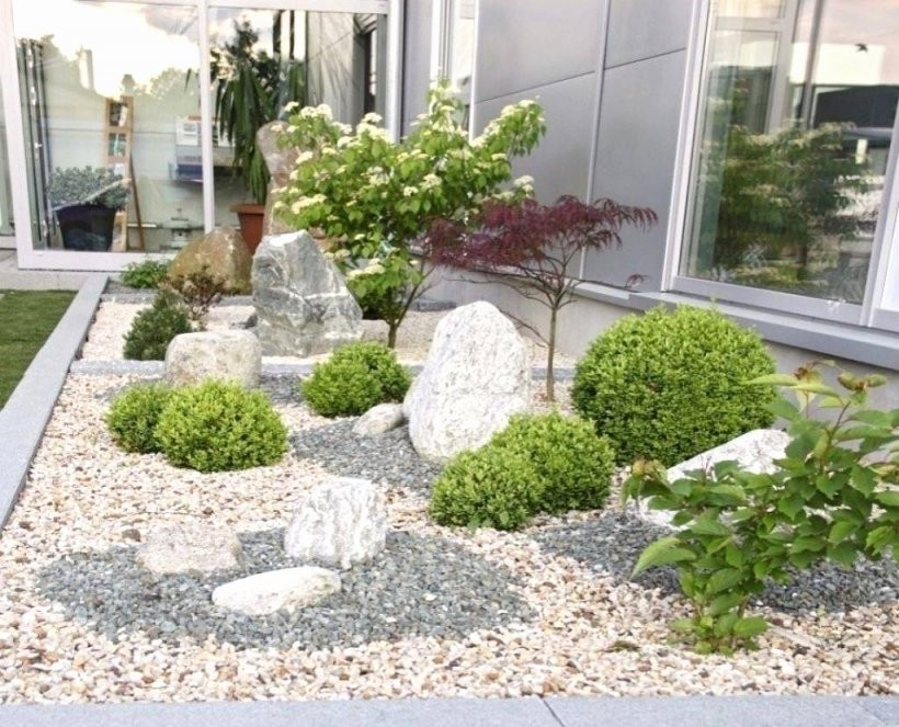 Gartengestaltung Mit Kies Und Gräsern Von Beetgestaltung Mit Steinen von Gartengestaltung Mit Steinen Und Gräsern Photo