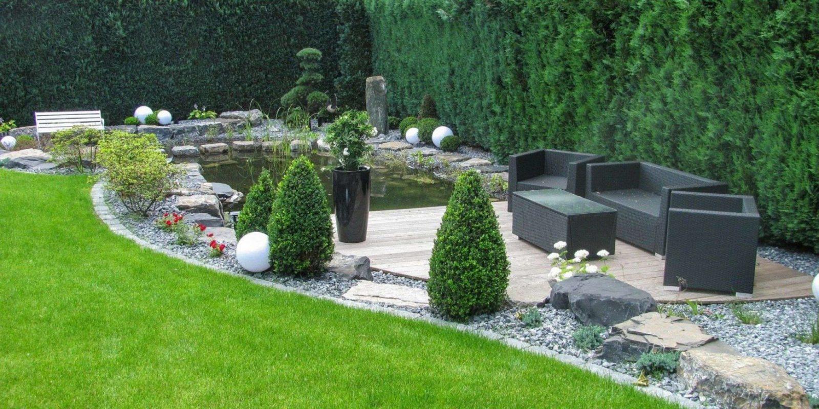 Gartengestaltung Mit Kies Und Holz Design Von Sichtschutz Gräser von Gartengestaltung Mit Gräsern Und Kies Bild