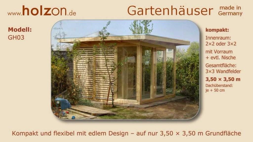 Gartenhaus Selber Bauen  Gerätehaus Modern  Holzon Design von Moderne Gartenhäuser Aus Holz Photo