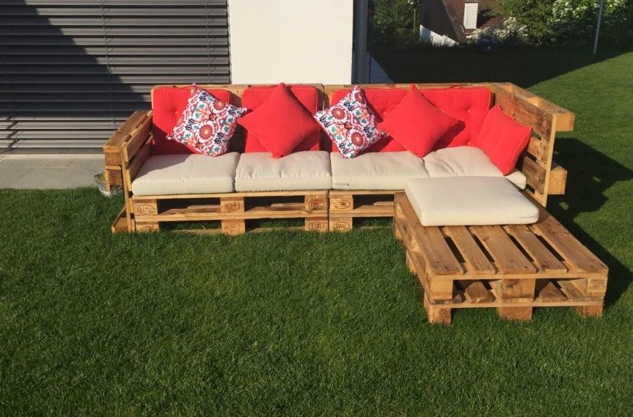 Gartenlounge Aus Paletten Selber Bauen  Heimwerkerking von Lounge Gartenmöbel Holz Selber Bauen Photo