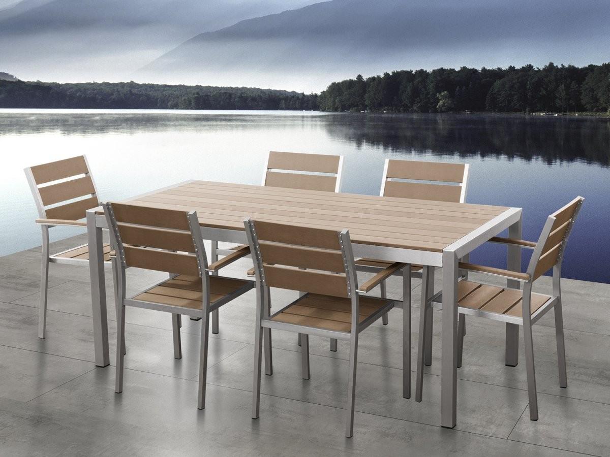 Gartenmöbel Aluminium Tisch + 6 Stühle Gartentisch Gartenstuhl von Gartentisch Mit 6 Stühlen Bild