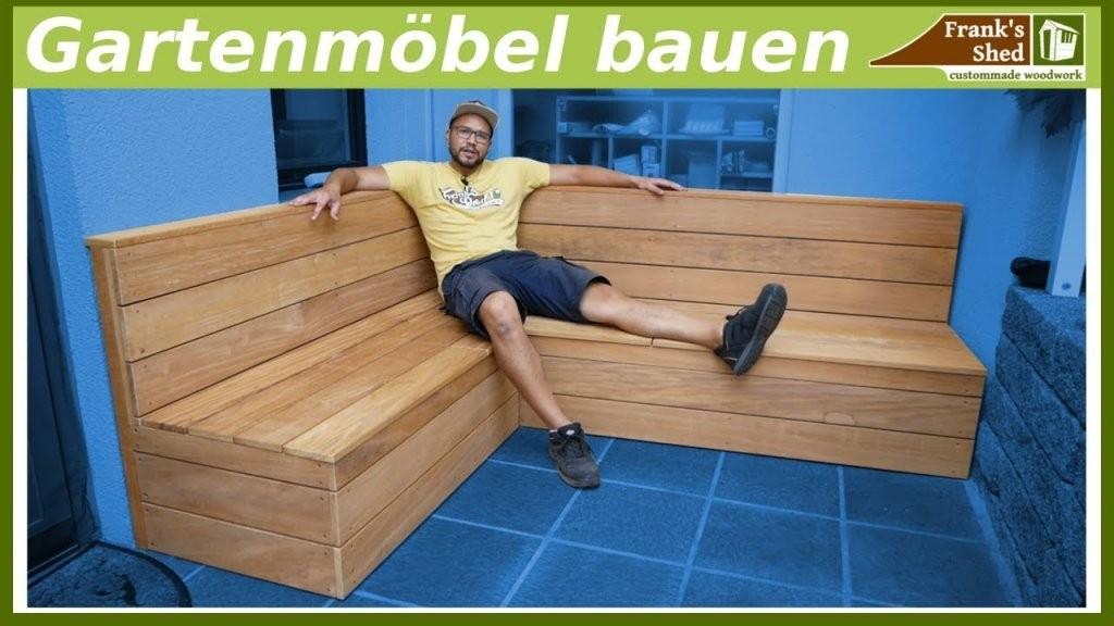 Gartenmöbel Aus Holz Bauen  Sitzbank Für Terrasse Selber Bauen von Eckbank Garten Selber Bauen Bild