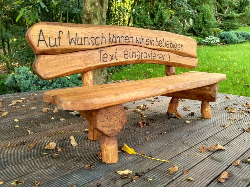 Gartenmöbel Holzbank Gartenbank Parkbank Gravur Massivholz von Holzbank Mit Gravur Kaufen Bild