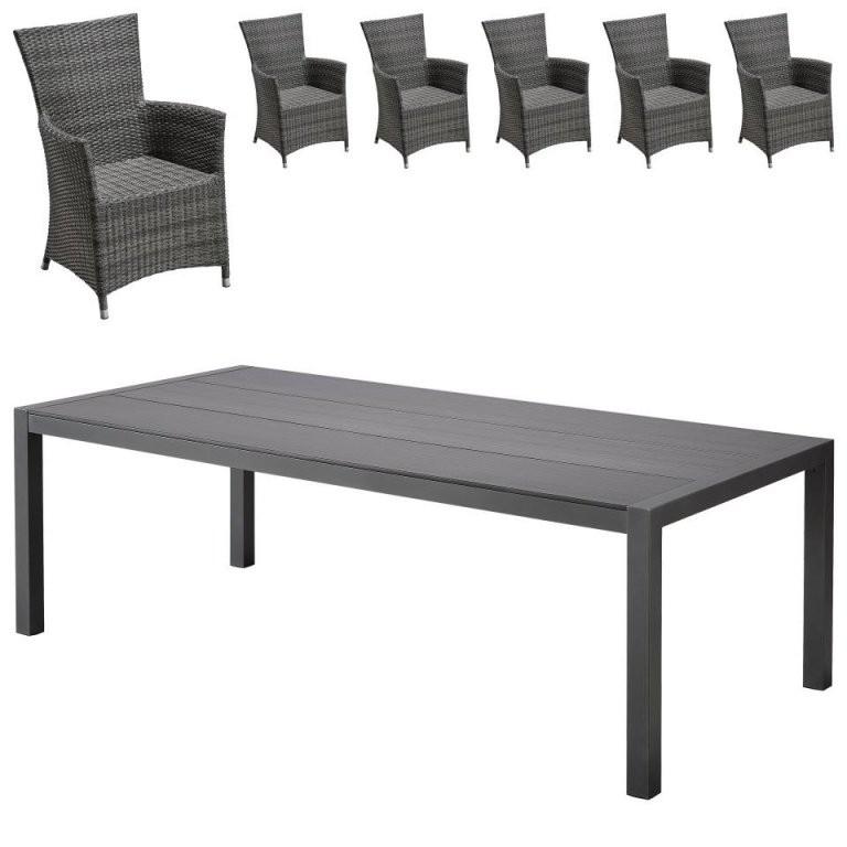 Gartenmöbelset Atlantakansas (1 Tisch 6 Sessel)  Dänisches von Angebote Dänisches Bettenlager Gartenmöbel Bild