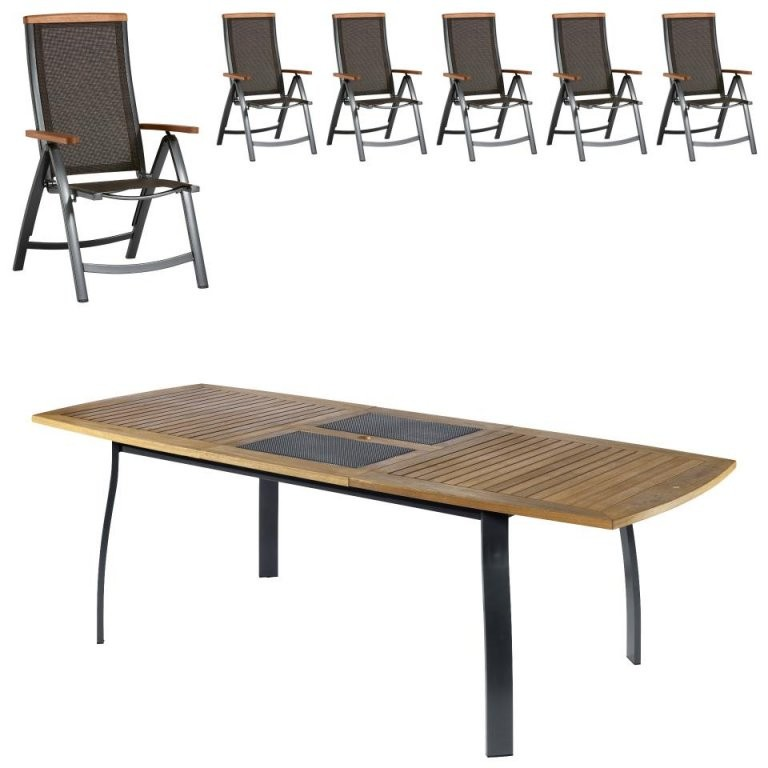 Gartenmöbelset Kingstonsantiago (1029X180 Ausziehbar 6 Stühle von Jutlandia Gartenmöbel Dänisches Bettenlager Bild