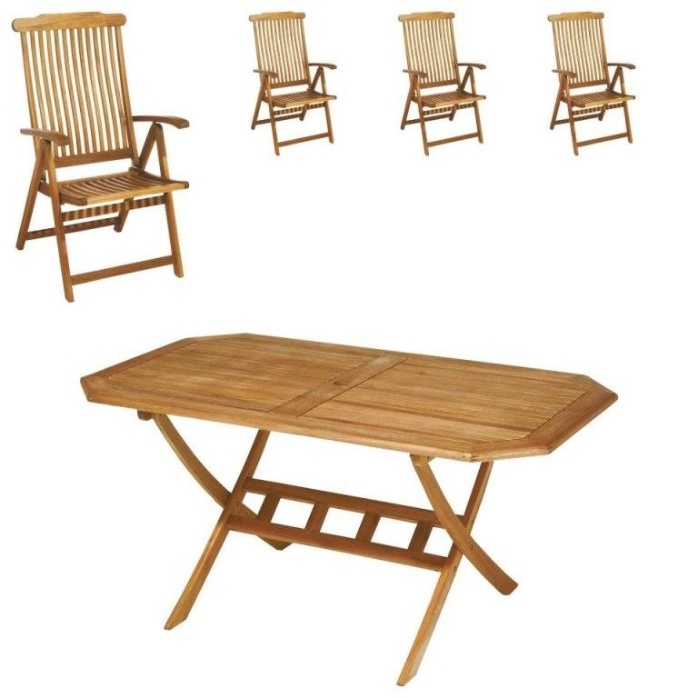 Gartenmöbelset Santa Fe (85X150 4 Stühle)  Dänisches Bettenlager von Jutlandia Gartenmöbel Dänisches Bettenlager Photo