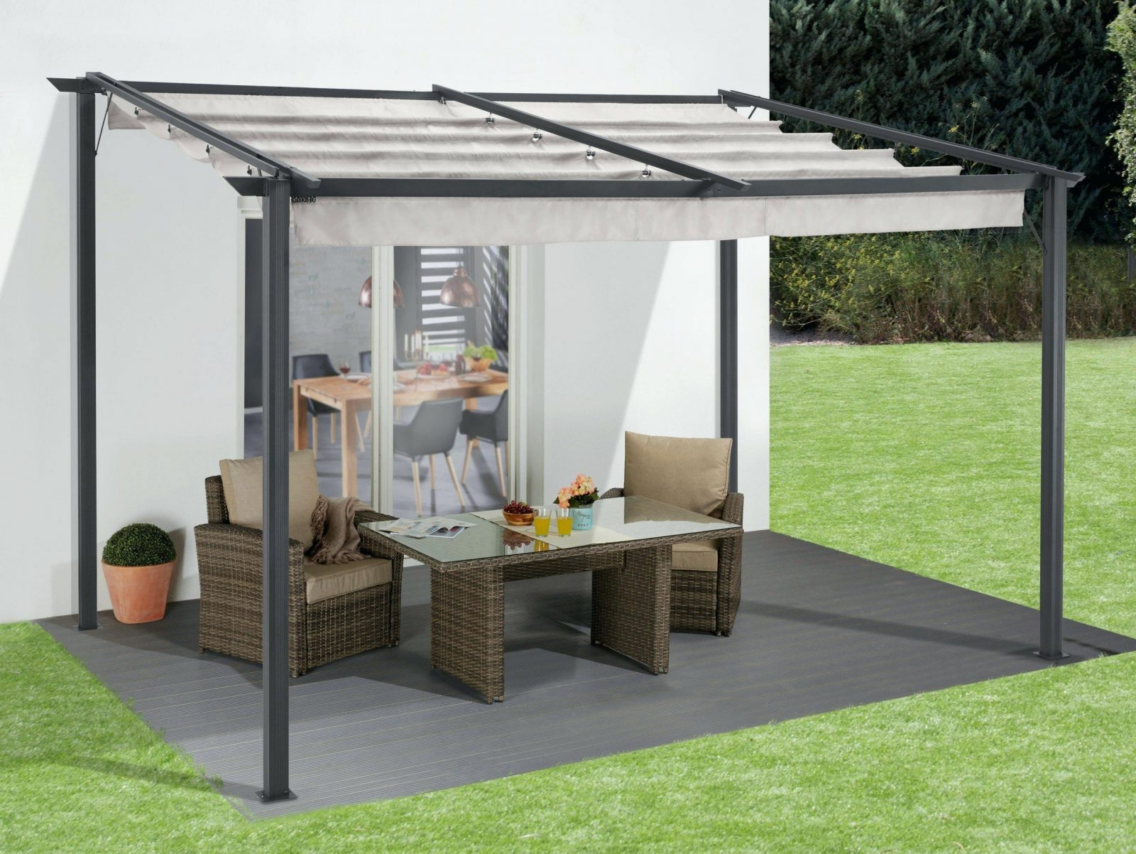 Gartenpavillon 4X4M 4×4 Holz Garten Pavillon Meter – Vstepontario von Pavillon 4 X 4 M Wasserdicht Photo