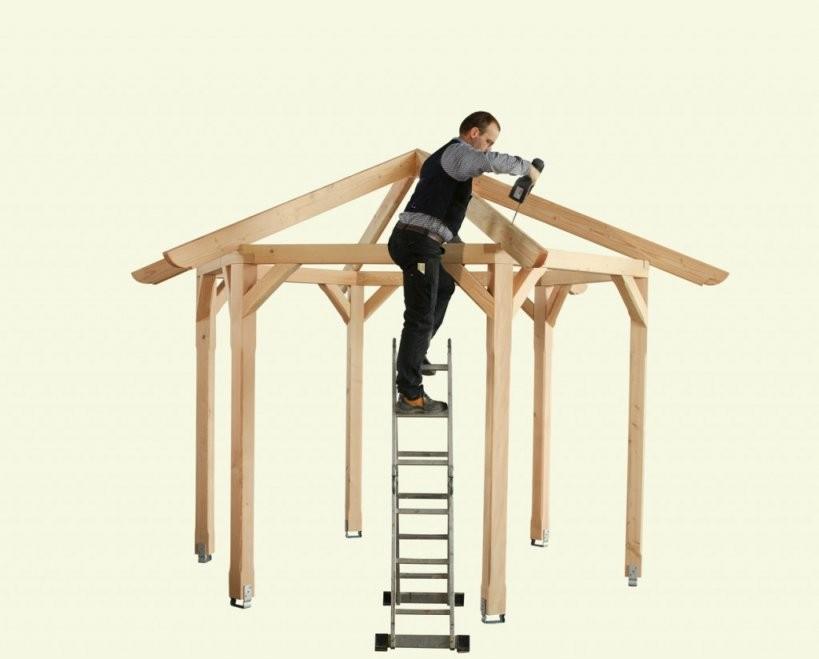 Gartenpavillon Aufbauen Die Aufbauanleitung von Holz Pavillon 3X3 Selber Bauen Bild