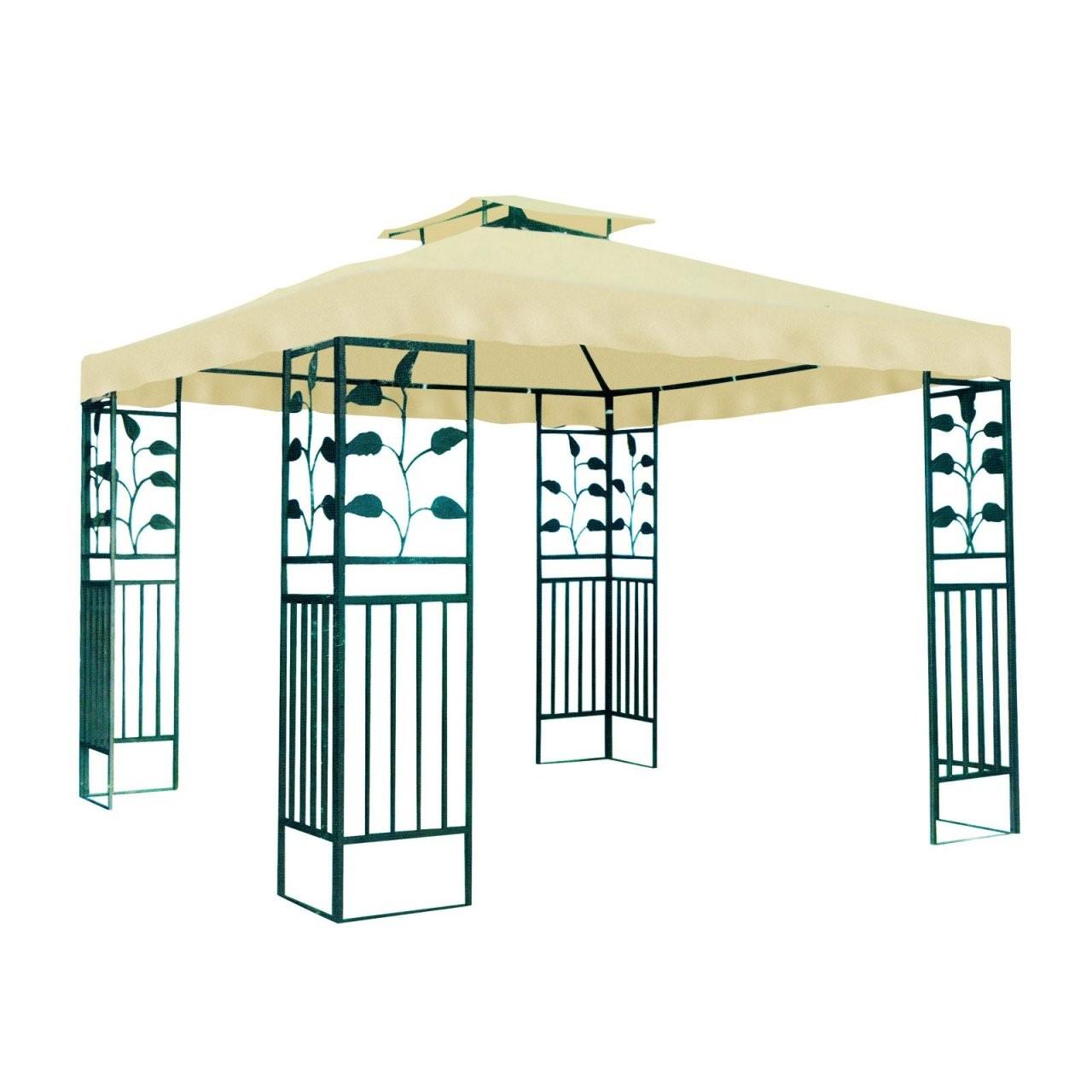 Gartenpavillon  Metallpavillon 3X3 Meter Gartenzelt Pavillon von Pavillon Dach 3X3M Wasserdicht Photo