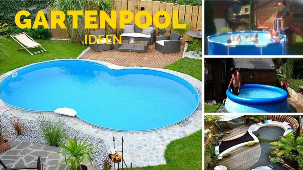 Gartenpool  Kleiner Garten Pool Ideen  Youtube von Garten Gestalten Mit Pool Bild