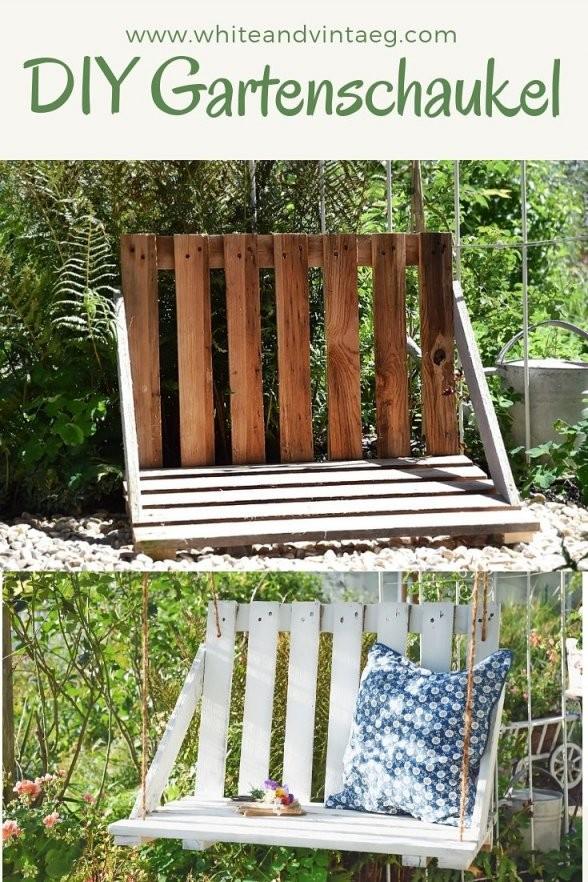 Gartenschaukel Aus Paletten Selber Bauen  Diy  Selbermachen Macht von Gartenschaukel Selber Bauen Anleitung Bild
